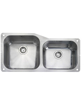 Atlantic Classic 2 Bowl Stainless Steel Undermount Sink Small RH