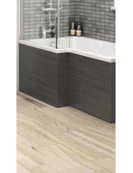Hudson Reed 1700mm Hacienda Black Shower Bath Front Panel