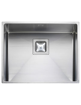 Atlantic Kube 1.0 Bowl Undermount Kitchen Sink 530 x 430mm