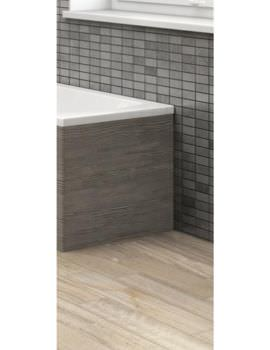 Hudson Reed 700mm Grey Avola Shower Bath End Panel