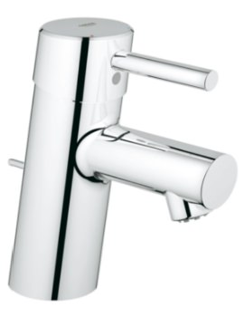 Concetto Single Hole Basin Mixer Tap With Pop-Up Waste
