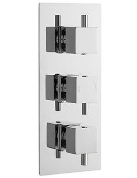 Ultra Volt Triple Concealed Thermostatic Shower Valve With Diverter