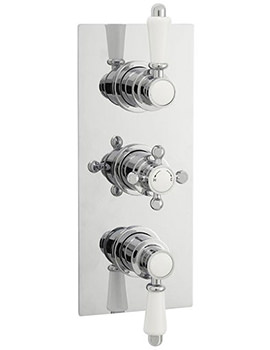 Ultra Victorian Rectangular Triple Concealed Thermostatic Shower Valve
