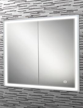 HIB Vanquish 80 LED Demisting Recessed Mirror Cabinet 830 x 730mm