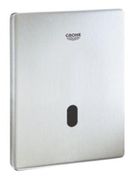 Grohe Tectron Skate Infra-Red Electronic Urinal Flush Plate Stainless Steel
