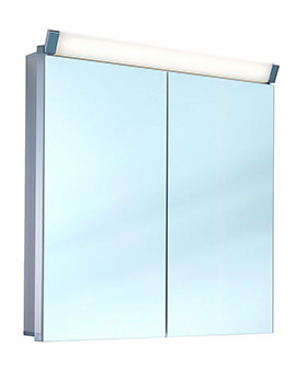Paliline 2 Door Mirror Cabinet With LED Light 600mm