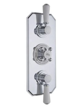 Topaz Triple Concealed Thermostatic Shower Valve White