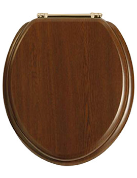 Heritage Standard Walnut WC Seat And Cover - GW100