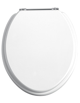 Heritage Standard Gloss White WC Seat And Cover With Chrome Hinge