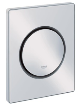 Nova Cosmopolitan Actuation Flush Plate Alpine White