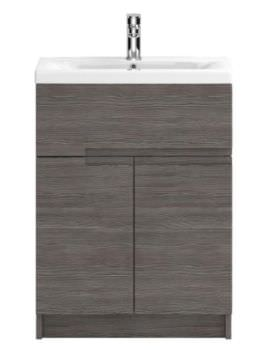 Hudson Reed Urban 600mm Grey Brown Avola Floor Standing Unit With Basin