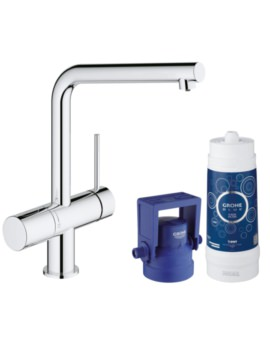 Grohe Blue Minta Single Lever Sink Mixer With Filter Function Chrome
