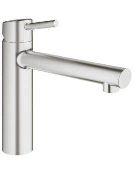 Concetto Half Inch Kitchen Sink Mixer Tap Supersteel