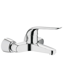 Euroeco Special 2 Hole Wall Mounted Basin Mixer Tap