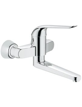 Euroeco Special Single Lever Wall Mounted Basin Mixer Tap
