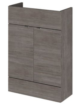 Hudson Reed Compact 600 x 255mm Grey Avola Vanity Unit