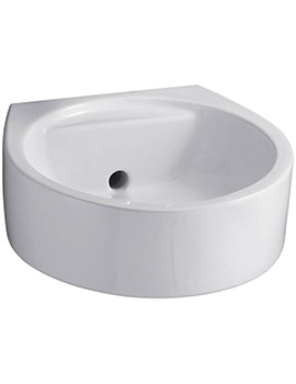 White 450mm Round Back Outlet Washbasin
