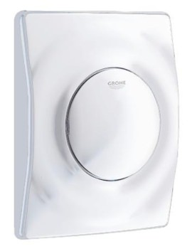 Grohe Surf Wall Mounted Flush Plate Alpine White