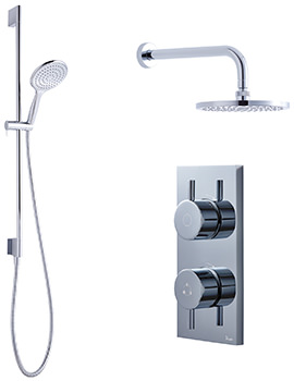 Kai-Central-Svelte Digital Slide Rail And Overhead Shower Pack 04