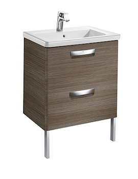 Unik The Gap 600mm Dark Wood Wall Hung Unit And Basin