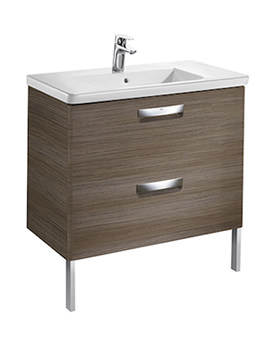 Unik The Gap 800mm Dark Wood Wall Hung Unit And Basin