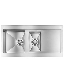 Svelte 1000 x 520mm Stainless Steel 1.5 Bowl Inset Kitchen Sink