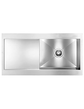 Svelte 1000 x 520mm Stainless Steel 1.0 Bowl Inset Kitchen Sink