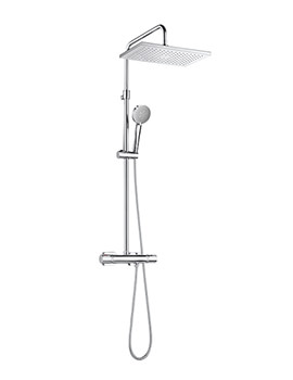 Even-T Square Thermostatic Shower Column