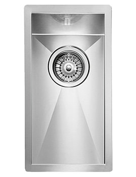 Crosswater Design 230 x 450mm Stainless Steel 1.0 Bowl Undermount Sink