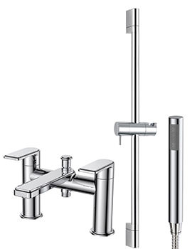 Fabia Bath Shower Mixer Tap With Handset And Slide Rail