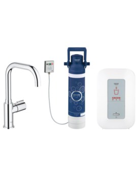 Red Chrome Monobloc Pillar Tap And 4 Liters Boiler - 30155000