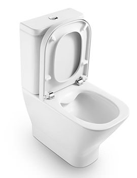 Roca The Gap Close Coupled Rimless WC Pan With Cutout For Isolation Valve