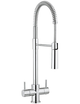 Cucina Cook Dual Lever Kitchen Sink Mixer Tap With Flexi Spray