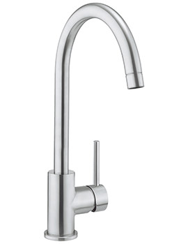 Cucina Tropic Side Lever Brushed Stainless Steel Sink Mixer Tap