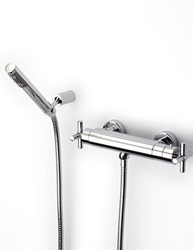 Loft Wall Mounted Thermostatic Shower Mixer With Handset