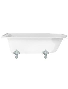 Hampton Freestanding Bath With Chrome Traditional Legs - E13 - E11 CHR