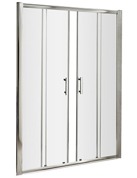 Pacific 1600 x 1850mm Double Sliding Shower Door