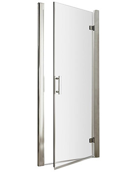 Premier Pacific 700 x 1850mm Hinged Shower Door - Sizes Available 700mm - 760mm - 800mm