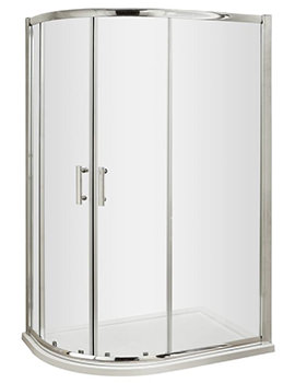 Pacific 900 x 760mm Offset Quadrant Shower Enclosure