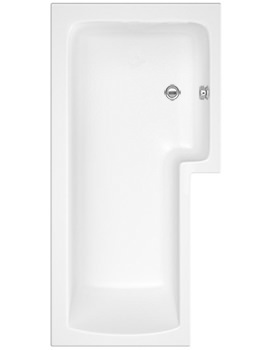 Square 1700 x 850mm Right Hand Acrylic Shower Bath