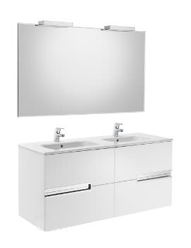 Victoria-N 1200 x 565mm Vanity Unit Pack With Mirror And Spotlight