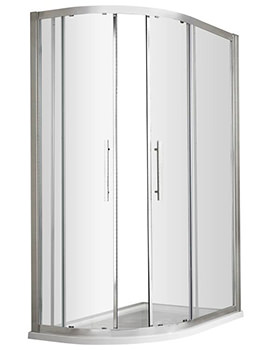 Apex 1000 x 800mm Offset Quadrant Shower Enclosure