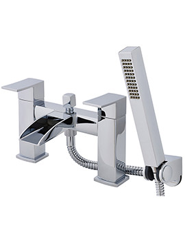 Moat Deck Mounted Open Spout Bath Shower Mixer Tap