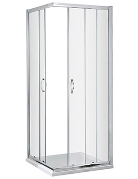 Lauren Ella Corner Entry 760 x 760mm Shower Cubicle