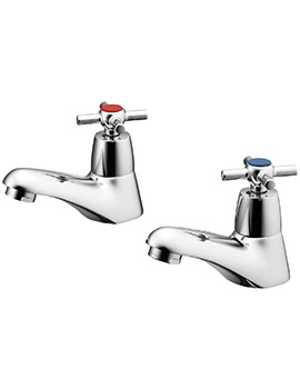 Elements Crosshead Basin Pillar Taps - B9858AA