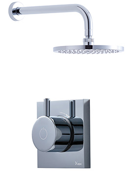 Crosswater Kai-Central Digital Mixer Valve And Overhead Shower Pack 01