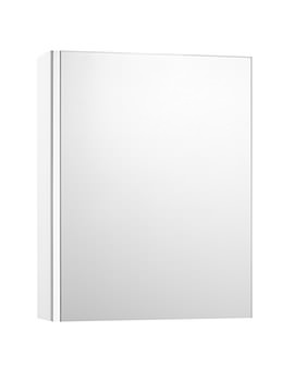 Roca Mini 450mm Wide Mirrored Cabinet - Gloss White
