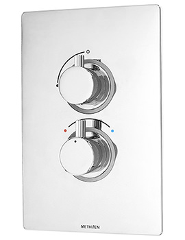 Kaha Concealed Thermostatic Single Outlet Shower Mixer Valve With ABS Plate