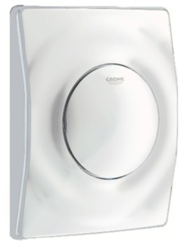 Surf Actuation Wall Mounted Alpine White Flush Plate