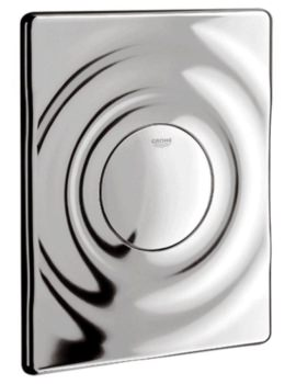 Surf Wall Mounted Chrome Flush Plate